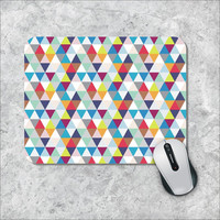 Geometric Mousepad, Triangles Mouse Pad, Custom Mousepad, Argyle Mouse Mat, Personalized Computer Accessories, Custom Mouse Pad