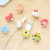 1PCS Mobile Phone Data Line Protection Set Korean Creative Cartoon Headset Charging Line Protection Device