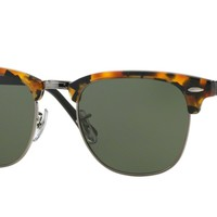Ray-Ban RB3016-1157 Spotted Black Clubmaster Sunglasses