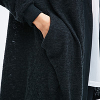 Pins & Needles Brushed Cardigan in Grey - Urban Outfitters