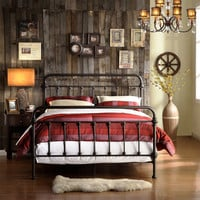 Home Creek Antique-Style Katherine Metal Frame Bed