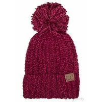 CC Chenille Ribbed Pom Beanies FINAL SALE