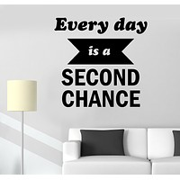 Wall Decal Words of Wisdom Inspiring Motivational Office Sign Chance Vinyl Sticker (ed1888)