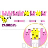 Giraffe and Bunnies Shaped Pacopipi Memo Pad Post-it Index Tabs   Animal Themed Stationery