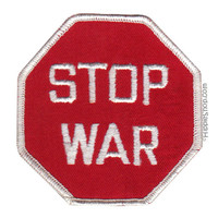 Stop War Patch on Sale for $2.99 at HippieShop.com