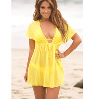 Summer Style  Women Sexy Swimwear Swimsuit Cover Up Bikini  Blusas Femininas Swimsuits Beach Wear Dress Swimsuit Cover up