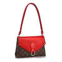 Louis Vuitton Monogram Canvas Epi Leather Shoulder Handbag Coquelicot Saint Michel Article: M44031