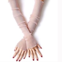 Ladies Fashion Sun Protection UV Arm Sleeve Gloves
