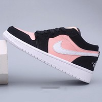 Nike Air Jordan 1 Low New Women's Stitched Mid-Top Casual Sneakers