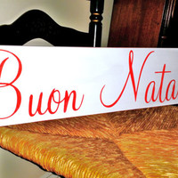 Buon Natale, Merry Christmas in ITALIAN, Italy, Italian Family gift, Christmas Decorations, Holiday Decor, Holidays, Tuscany Rome Travel