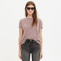 LINEN MIRACLE TEE IN STRIPE