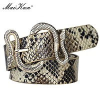 Christmas 2020 Best Accessory Maikun Belts for Women Snake Shape Pin Buckle Belt High Quality Leather Women Belt