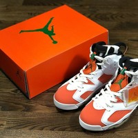 Air Jordan 6 Gatorade AJ6 White orange