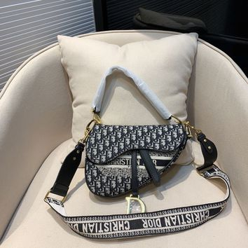 Dior Oblique Canvas Saddle Bag