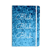 "Ebi Emporium ""Blah Blah Blah"" Blue Glitter Everything Notebook"