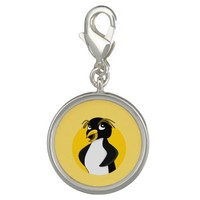 Rockhopper penguin cartoon photo charms