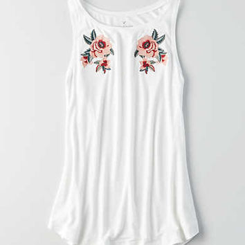 Soft & Sexy High Neck Tank, Natural White