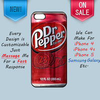 iPhone 5 Case Dr Pepper iPhone 5 Cover Dr Pepper by CustomCases4U