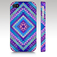 Tribal iPhone case, iphone 4, iphone 5, Aztec colorful diamond triangle pattern design, trendy hipster fashion style, art for your phone