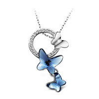 """YAN & LEI Hot Sale """"Dream Chasers"""" Love Gift Swarovski Elements Crystal Butterfly Pendant Necklace Women's Jewelry"""
