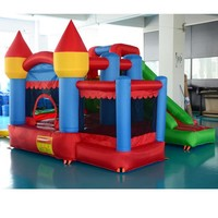Bouncy Castle Residential Nylon Inflatable Slide Combo With Ball Pit