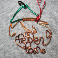 Wire Wrapped PETER PAN Spelled Peter Pan Pendant