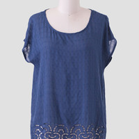 Midnight Rush Embroidered Blouse