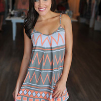 OLIVE TRIBAL TUNIC