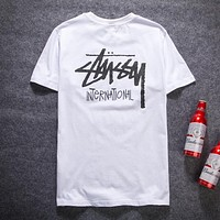 Stussy Woman Men Simple Fashion Tunic Shirt Top Blouse