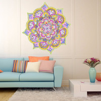 Full color decal Mantra meditation sticker,Mantra wall art decal gc402
