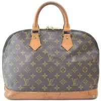 Authentic Louis Vuitton Hand Bag Alma M51130 Browns Monogram 17426