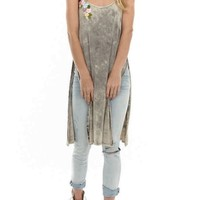 Silhouette Acid Wash Tunic
