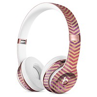 Gold Chevron Over Abstract Fumes Full-Body Skin Kit for the Beats by Dre Solo 3 Wireless Headphones