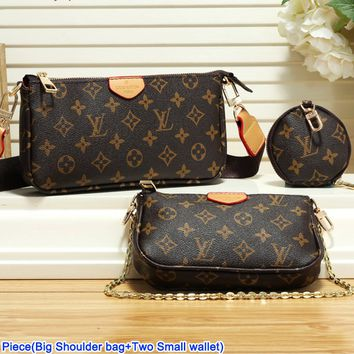 LV hot seller of fashionable ladies' casual printed two-piece one-shoulder bag