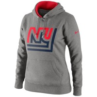 Nike New York Giants Women's Retro Tailgater Hoodie - Gray