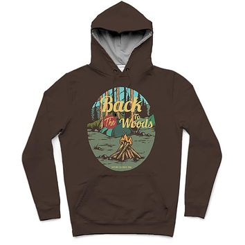 Back To The Woods Trendy All-Over Print Solid Tobago Hoodie