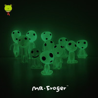 Mr.Froger Luminous tree elves Miyazaki Hayao Princess Mononoke Hime Animation figurines Model Doll cute Alien Martian ET Kodamas