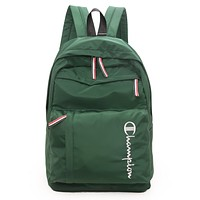 Champion 2019 new men's and women's casual sports travel bag backpack Green
