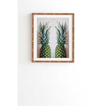Chelsea Victoria How About Those Pineapples Framed Wall Art