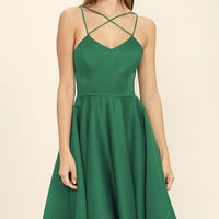 Neverending Story Green Midi Dress