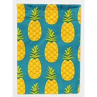 Pineapples on Teal Flag Garden Size BB5145GF