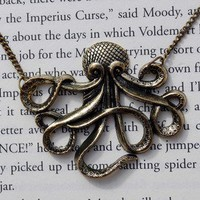Maritime Monster Giant Octopus Necklace