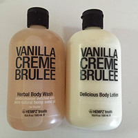 Hempz Vanilla Creme Brûlée Body Wash & Body Lotion 18.6 Fl Oz Each