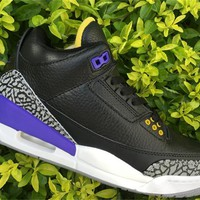Air Jordan 3 Retro Black/Purple Sneaker 36-47