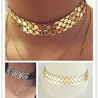 Metallic Scales Choker