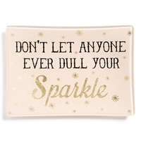 Natural Life 'Dull Your Sparkle' Glass Tray