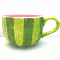 Watermelon Latte Cappuccino Mug - Ceramic Coffee Mug - In stock Ready to Ship!