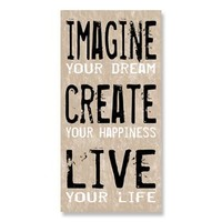 ''Imagine, Create, Live'' Canvas Wall Art by Louise Carey