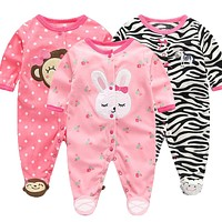 Lawadka Polar Fleece Baby Jumpsuits Baby Clothes for borns Girls Baby Clothing Long Sleeve Baby 0-3 Months Winter Boy Rompers