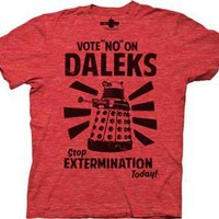 Dr who t shirt Vote no on Daleks Doctor who shirt great vintage tee !